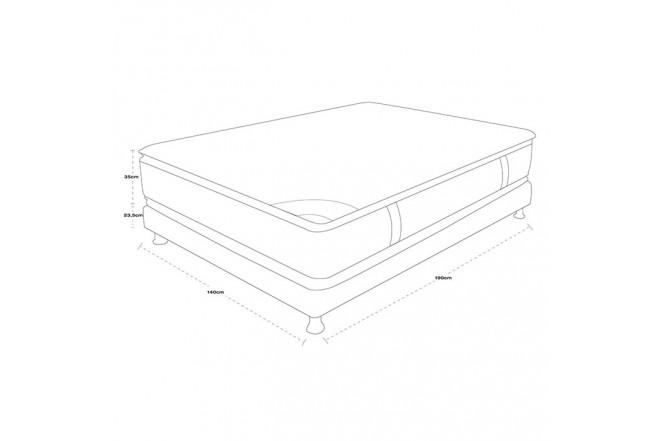 KOMBO SPRING: Colchón 140 x 190 Life New C5 + Base cama Salim Doble
