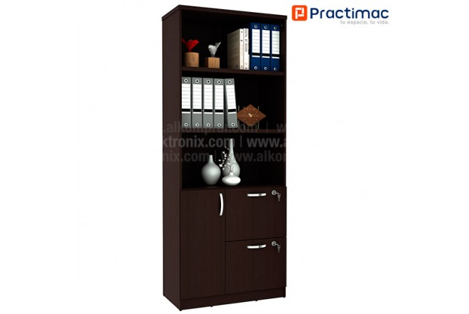 Bibilioteca PRACTIMAC Zafiro Wengue pm30015WE