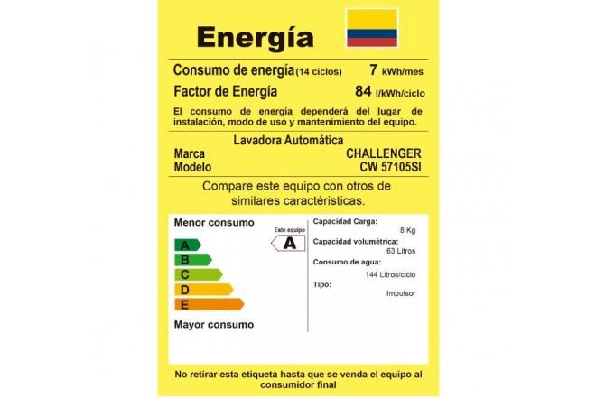 Lavadora CHALLENGER 10.5Kg CW57105