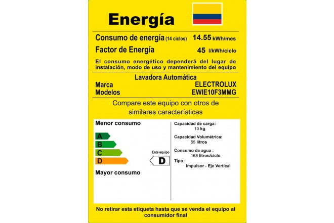 Lavadora ELECTROLUX 10Kg EWIE10F3MMG Gris