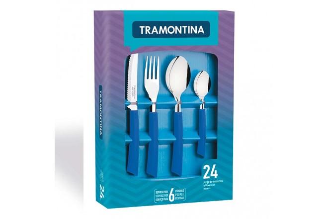 Juego de cubiertos tramontina 24 piezas brisa azul for Brisa cuchillos