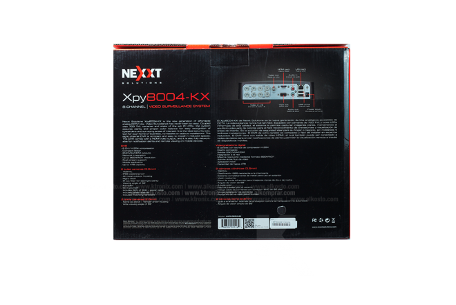 Kit Cámara Seguridad NEXXT 8 Channel/4 cámaras 500GB