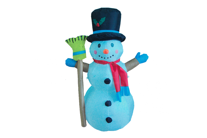 Hombre De Nieve Escoba 120 cm
