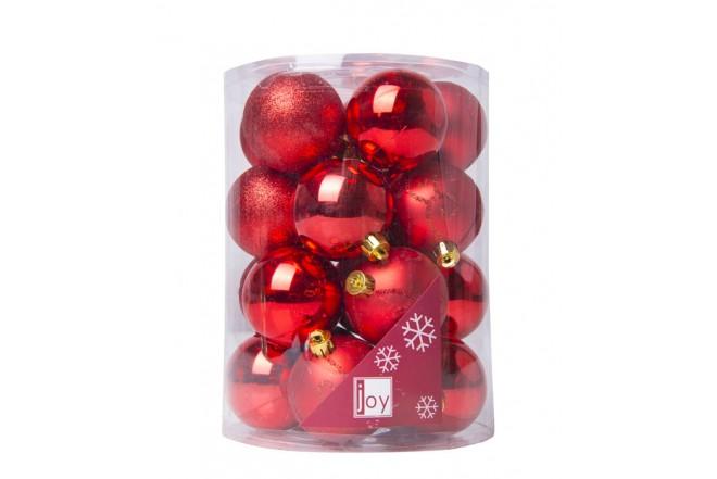 Set de Esferas x 20 Diseño Surtido Rojo 6 cm