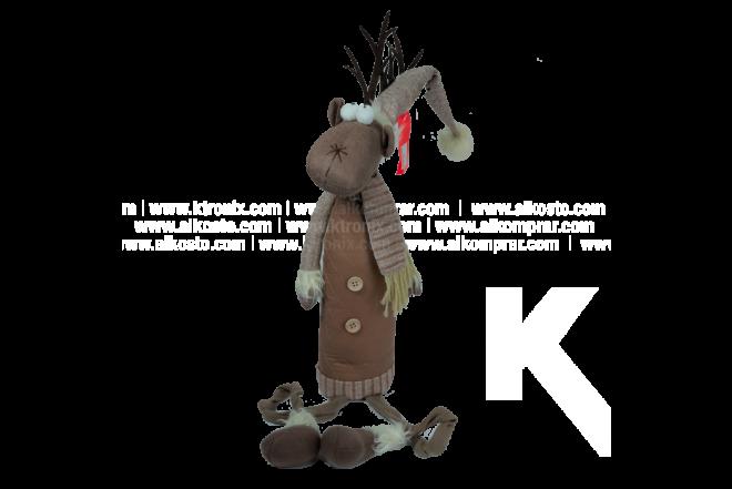 Decoración Navideña Figura Reno Sentado 80 cm
