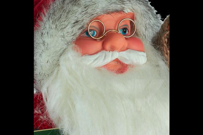 Decoración Navideña Santa De Pie Con Lámpara 30 cm