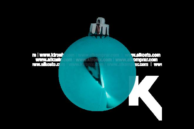 Esfera Set x 20 6 cm Espiral Nieve Verde