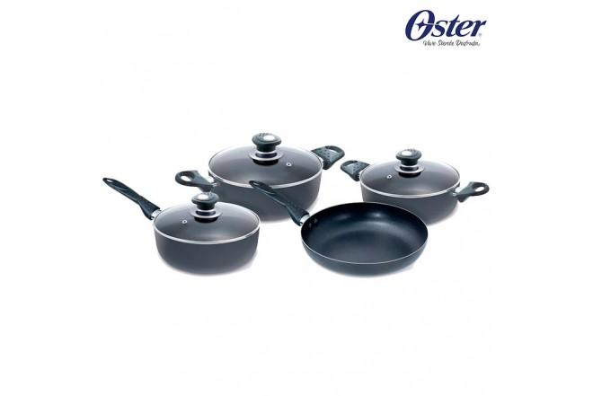 Juego de ollas OSTER 7 Piezas Práctica Negra OS-16762