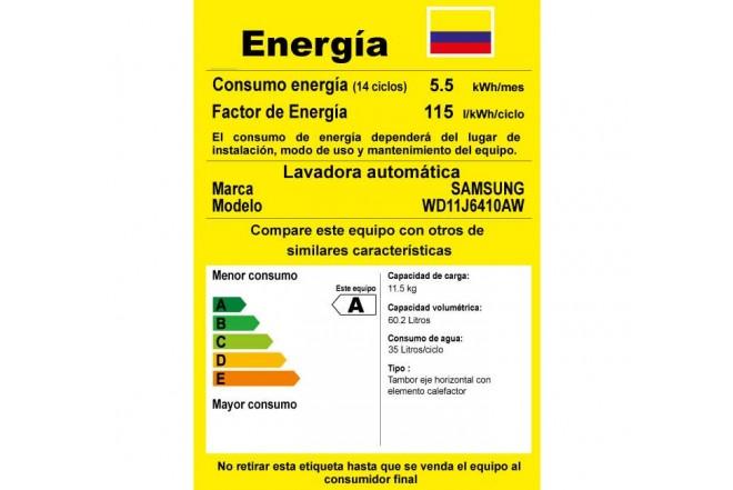 Lavadora / Secadora SAMSUNG 11.5KG WD11J6410AW Blanca