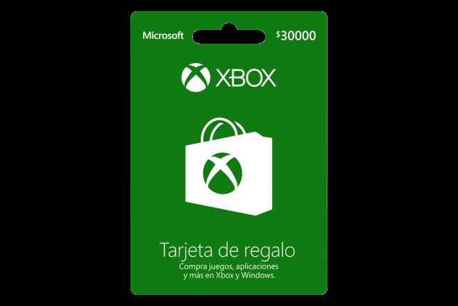 Tarjeta Regalo XBOX  $30.000