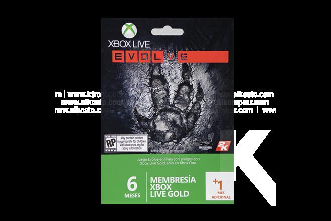 Tarjeta Live 6 Meses XBOX 360