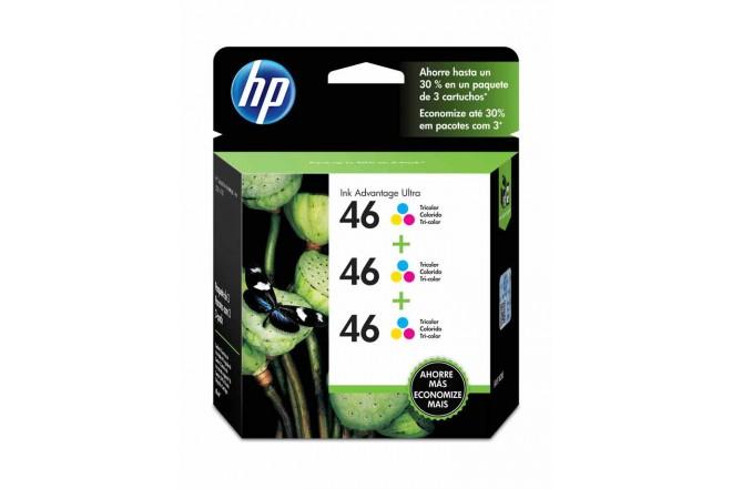 Cartucho HP 46 Tricolor 3pac