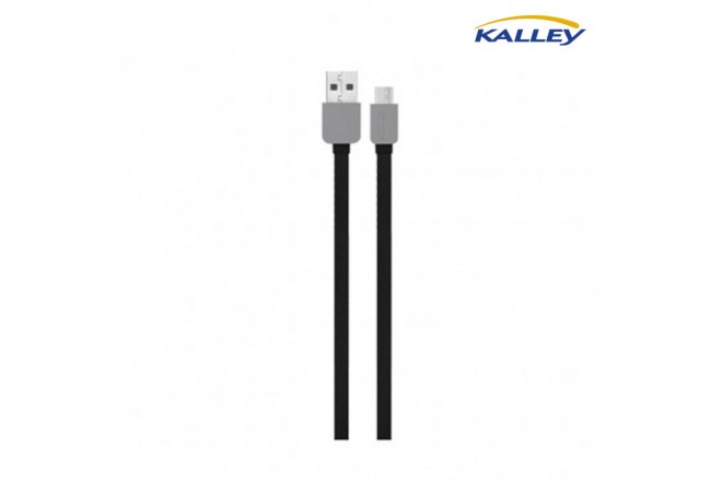 Cable USB/Micro USB Kalley Negro 1 Metro