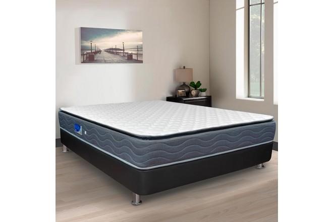 Colchón Resortado King FANTASÍA Blue Balanced 200 x 200 cm