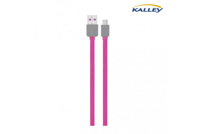 Cable USB/Micro USB Kalley Rojo 1 Metro