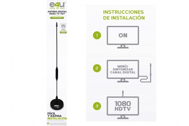 Antena para TV  HD TDT E4U