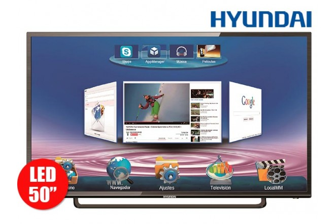 "Tv 50"" 127cm Hyundai HYLED FullHD Internet T2"