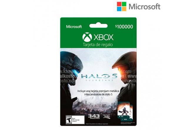 Tarjeta Regalo XBOX  $100.000 Halo 5 The guardians