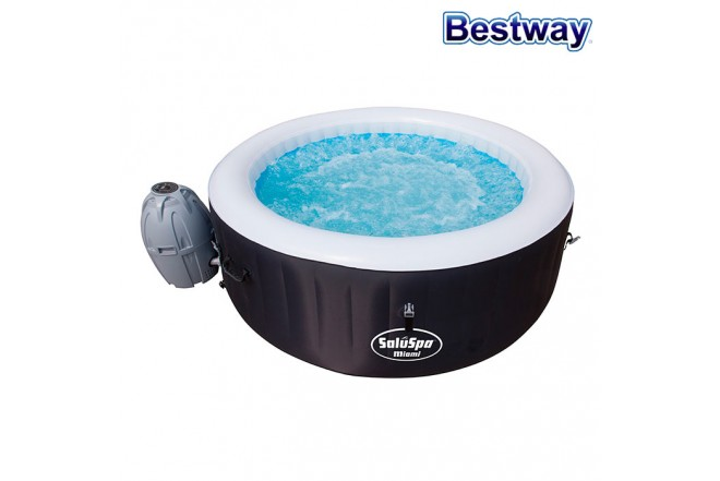 Jacuzzi Inflable BESTWAY 1.80M X 66Cm LAY-Z-SPA™ MIAMI