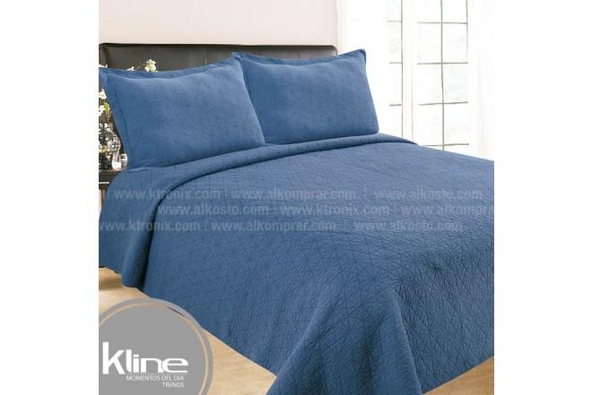 Cubrecama K-LINE Sencillo Lavare Azul