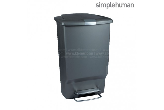 Basurero Plástico SIMPLE HUMAN Gris 45 Lt