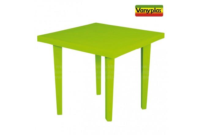 Mesa VANYPLAS 75X75 Verde Tropical