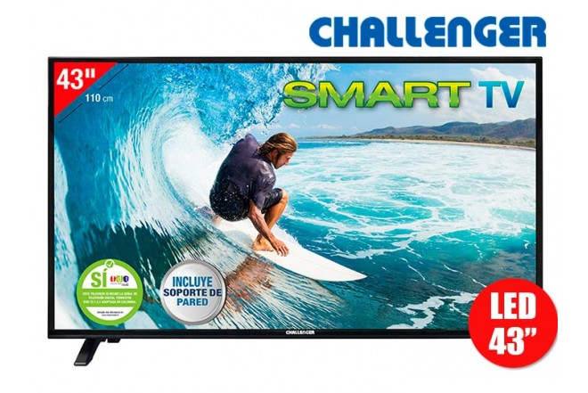 "Tv 43"" 110cm LED CHALLENGER 43S30 FullHD T2 Internet"
