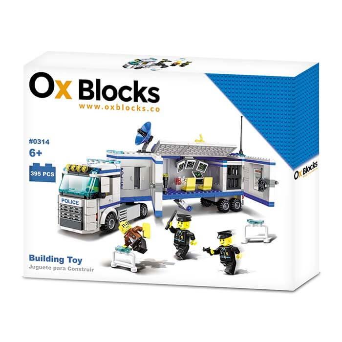 OX BLOCKS Set de Bloques para armar Estación de Policía Móvil de 395 piezas. 3338977d0e85