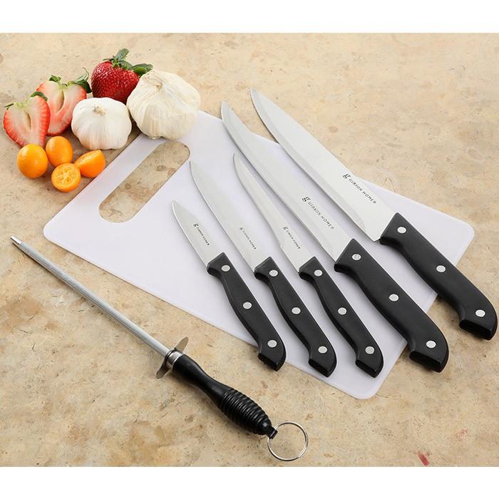 Set de cuchillos x 7 piezas gibson canterbury tabla de - Tabla de cuchillos ...