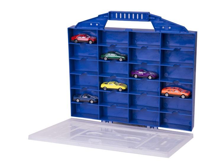 Maletin Organizador Con 6 Carros De Juguete Express Wheels Azul