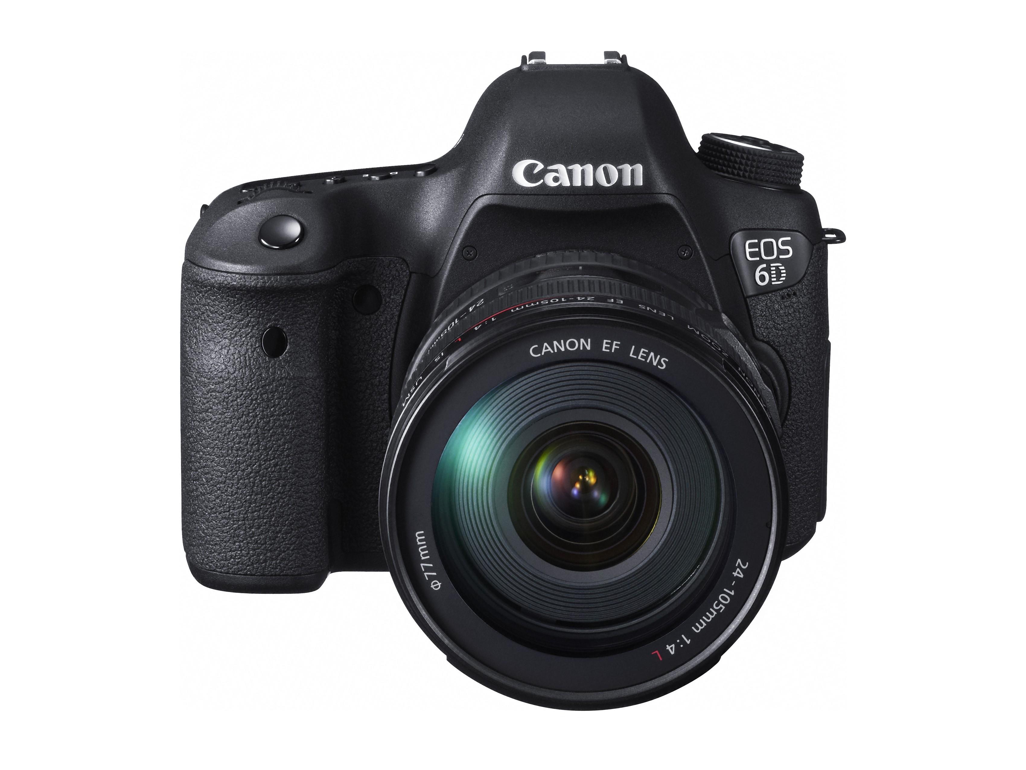 Cámara CANON Profesional EOS 6D Negra + Lente EF 24-105 L IS USM ...