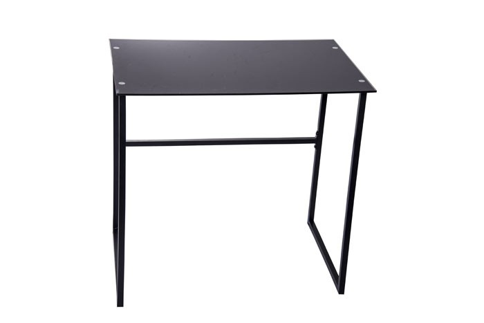Mesa escritorio vidrio negra for Escritorio de vidrio