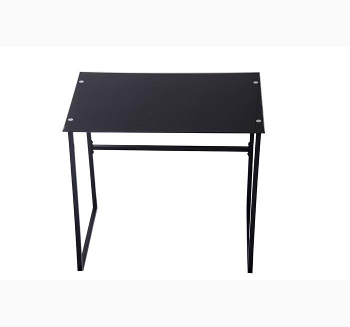mesa escritorio vidrio negra