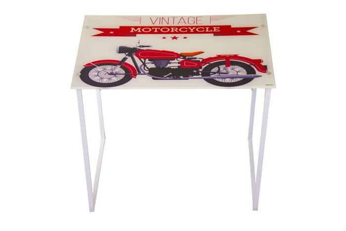 Escritorio en vidrio motorbike for Escritorio de vidrio