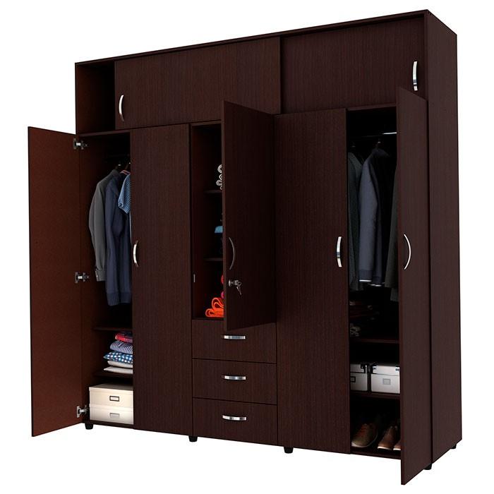Armario 200 cm practimac magnus wengue - Armarios para ropa ...