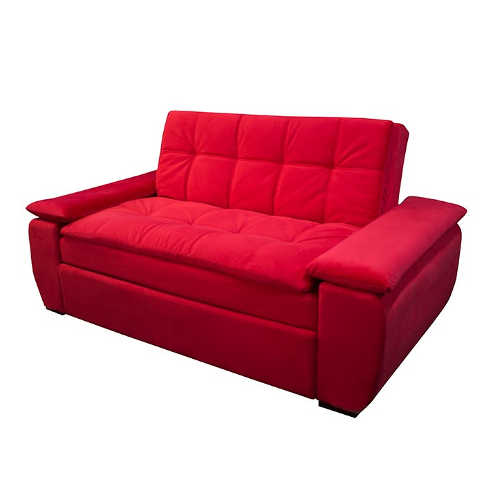 Sof cama espumados brooklin focus rojo for Catalogos de sofas cama