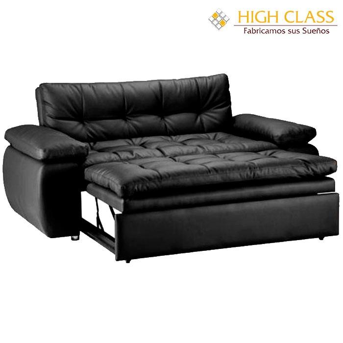 Sof cama high class car yoga negro for Sofa cama medellin