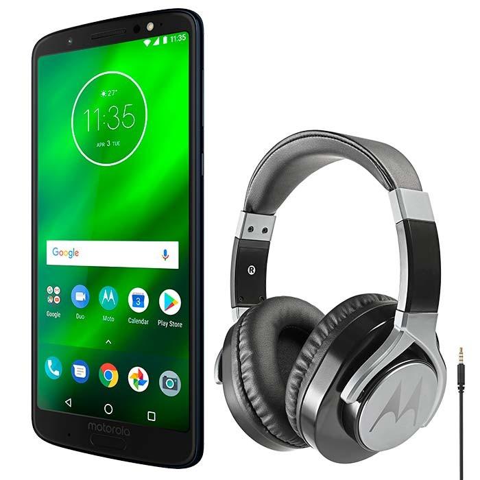 d2620aa5d Celular Libre MOTOROLA Moto G6 Plus Azul Indigo DS 4G + Audífonos