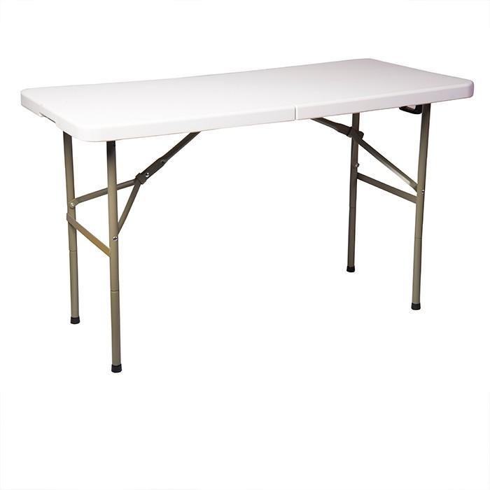 Mesa rectangular plegable para 6 personas for Mesa plegable 8 personas