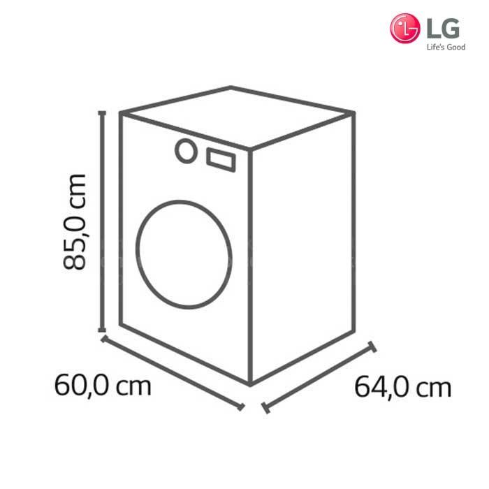 Lavadora secadora lg 12kg wd1245rds for Medidas de lavadoras