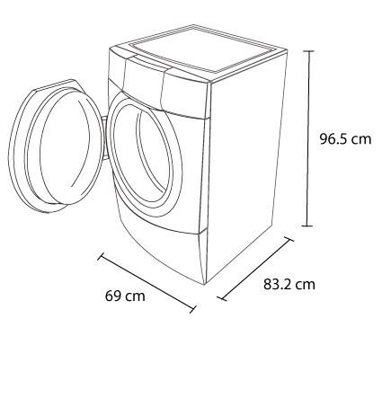 Lavadora whirlpool 16kg 7mwfw80hebw blanca for Medidas de lavadoras