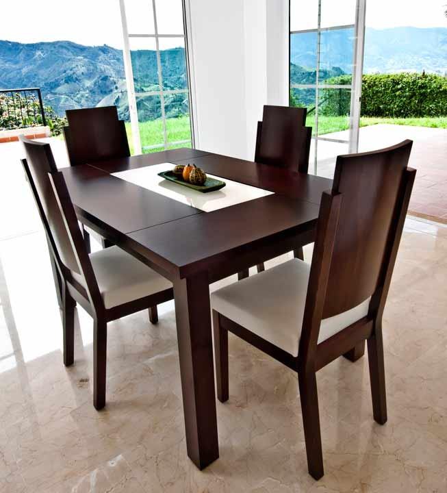 Mesa comedor 4 sillas khome volan for Comedores de madera economicos
