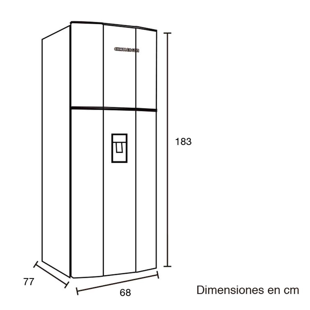 Nevera challenger 470lt cr568b i for Medidas minimas de una cocina