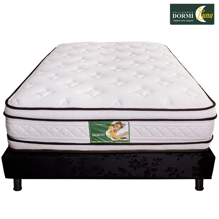 Kombo colch n de resortes dormiluna mercurio top for Cama semidoble