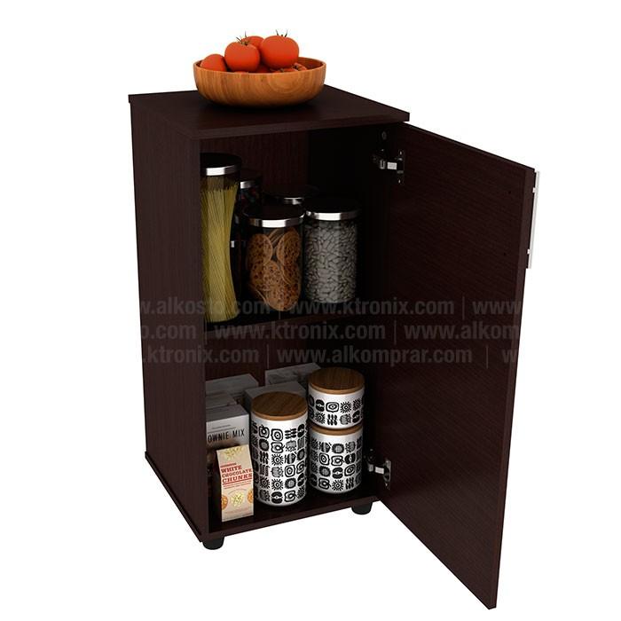 Mueble auxiliar de cocina practimac lavanda wengue for Muebles auxiliares