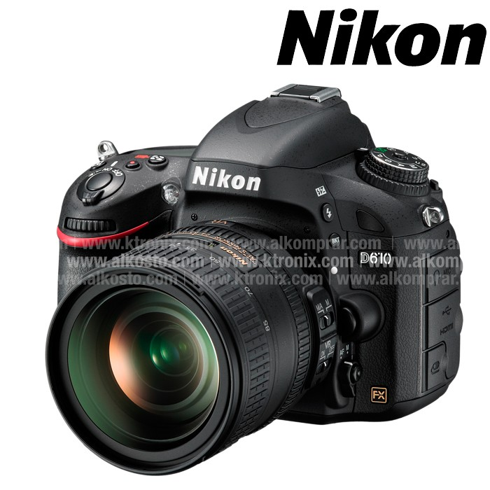 Camara NIKON D-610 Profesional + Estuche + Memoria 8 GB Negra ...