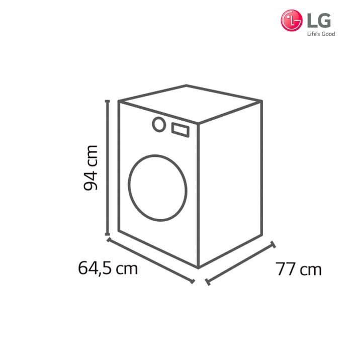Lavadora secadora lg 14kg wd1477rd for Medidas de lavadoras