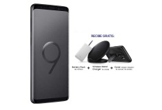Celular Libre SAMSUNG S9 Negro DS 4G + Battery Pack + Wireless Stand Charger + Cover