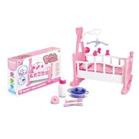 BABY BED Cuna mecedora para muñeca con accesorios