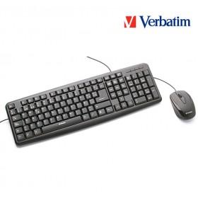 Mouse & Teclado VERBATIM Óptico Alámbrico